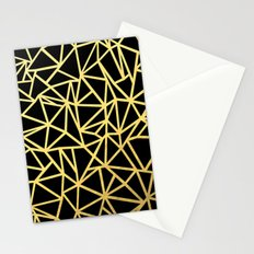 Abstract Outline Thick Gold Stationery Cards