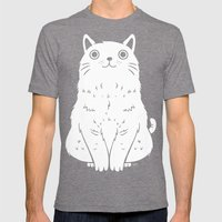 Meow Mens Fitted Tee Tri-Grey SMALL