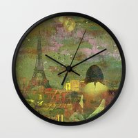 On The Roofs Of Paris Wall Clock