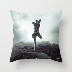 To never, to no more. Throw Pillow