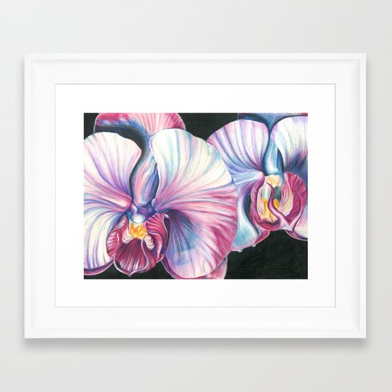 Pink Orchid Study Framed Art Print