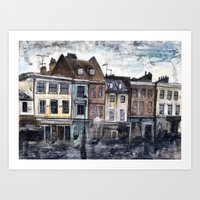 Rainy Greenwich Art Print