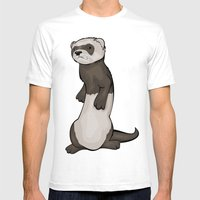 Wild Ferret Mens Fitted Tee White SMALL