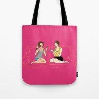 girl talk Tote Bag