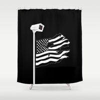 And the star-spangled banner in triumph shall wave Shower Curtain