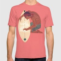 Wax it up Mens Fitted Tee Pomegranate SMALL
