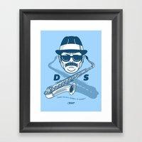 Duke Silver Framed Art Print