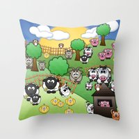 Down On Dingle Dopple Farm Throw Pillow