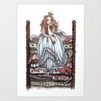 Princess  And The Pea Art Print