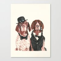 german short hair pointers - F.I.P. @ifitwags (The pointer brothers) Canvas Print
