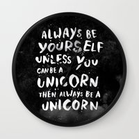 Always Be Yourself. Unle… Wall Clock