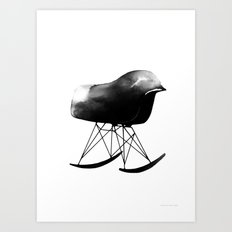 Rocking Chair Art Print