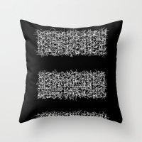 tri black Throw Pillow