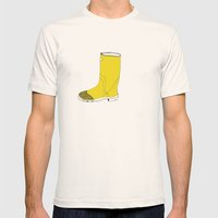 My Favorite Yellow Boot Mens Fitted Tee Natural SMALL
