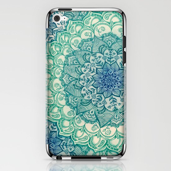 Emerald Doodle iPhone & iPod Skin
