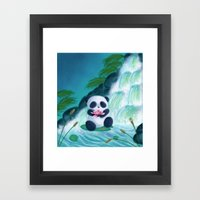 Panda Lilly Framed Art Print