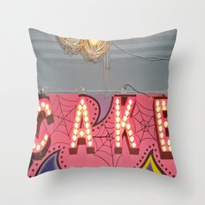 Cake ~ pop carnival signage Throw Pillow
