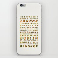 Travel World Cities iPhone & iPod Skin