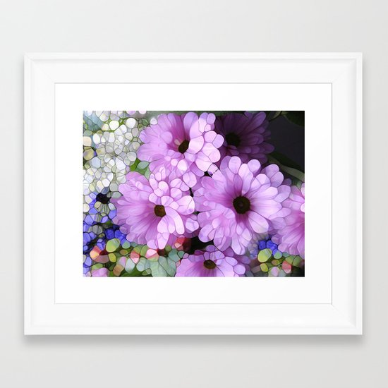 Daisies from the Galaxy Framed Art Print