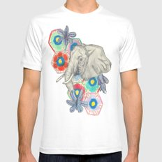 Elephanté Mens Fitted Tee SMALL White
