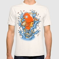 Magic Karp Koi Mens Fitted Tee Natural SMALL