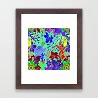 Flowers Explosion Framed Art Print