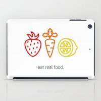 Eat Real Food. (light) iPad Case