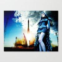 Rockets And Bombshells Canvas Print