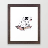 Collage Bear Framed Art Print