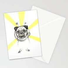 Pug in Space Silly Doodle Stationery Cards