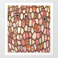 Cells In Pink Art Print