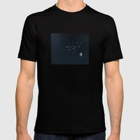 4. All Of My Thoughts Mens Fitted Tee Black SMALL