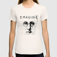 imagine Womens Fitted Tee Natural SMALL