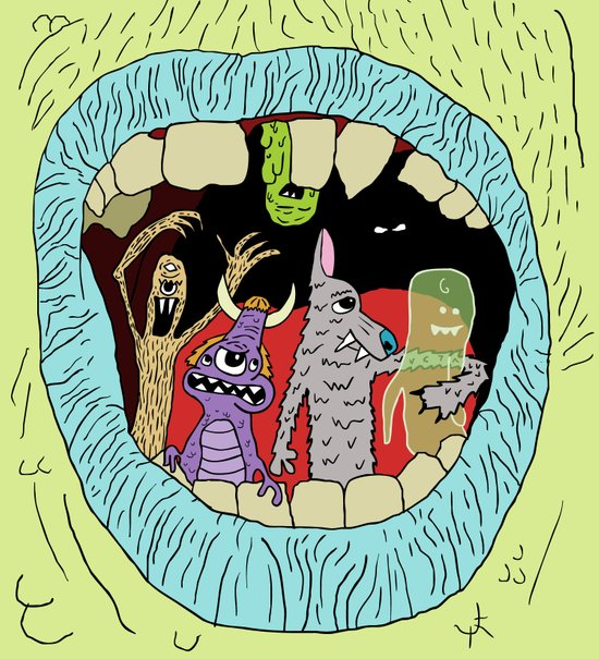 Monster Mouth Art Print