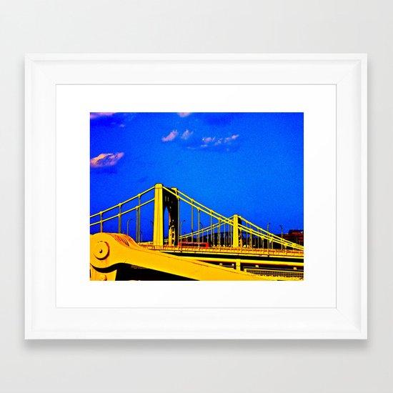 The 3 Sisters Bridges Framed Art Print