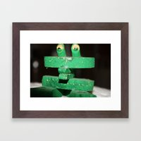 Clip Frog Framed Art Print