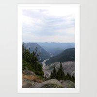 Rainier Gorge Art Print