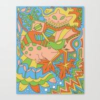 Abstract Animals Canvas Print