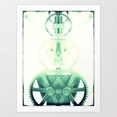 Oil the wheels Art Print
