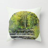 fall leaves + f scott fitzgerald Throw Pillow