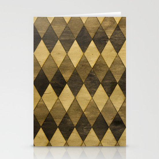 Wooden Diamonds Stationery Card