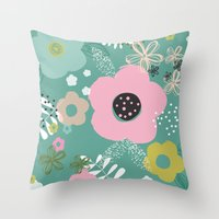 In Blooms Throw Pillow
