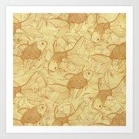 Vintage Goldfishes II Art Print