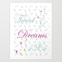 Tweet Dreams Art Print