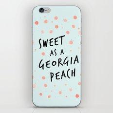Watercolour Georgia Peaches iPhone & iPod Skin