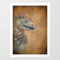 Medieval monster XVII Art Print