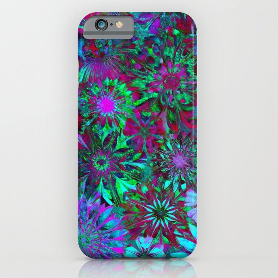 Rivalry of Flowers - green & lilac iPhone & iPod Case