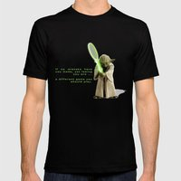 Yoda Squasher  Mens Fitted Tee Black SMALL