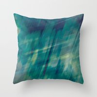 Submerge Aqua Throw Pillow