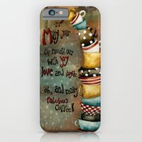 iPhone & iPod Case featuring May Your Cup Runneth Over by Jennifer Lambein